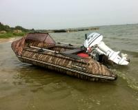 Лодка ПВХ РОБИНЗОН 350 МАКС КМФ